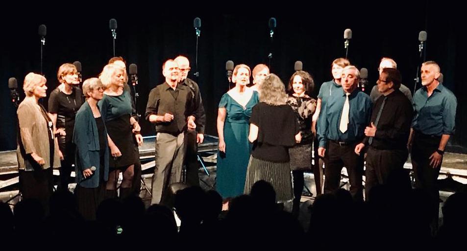2018 mit dem Jazzchor Freiburg im Gallustheater